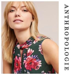 Anthropologie Floral Print Tank Top New Women's Sm